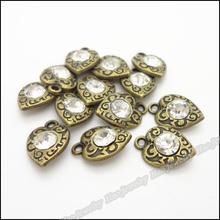 80 pcs Vintage Charms love Heart Pendant Antique bronze Fit Bracelets Necklace DIY Metal Jewelry Making(China (Mainland))