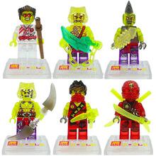 Wholesale Transparent Crystal Ninja Minifigures LELE 79056 60pcs/lot Figures Classic Building Blocks Sets Model Bricks Toy