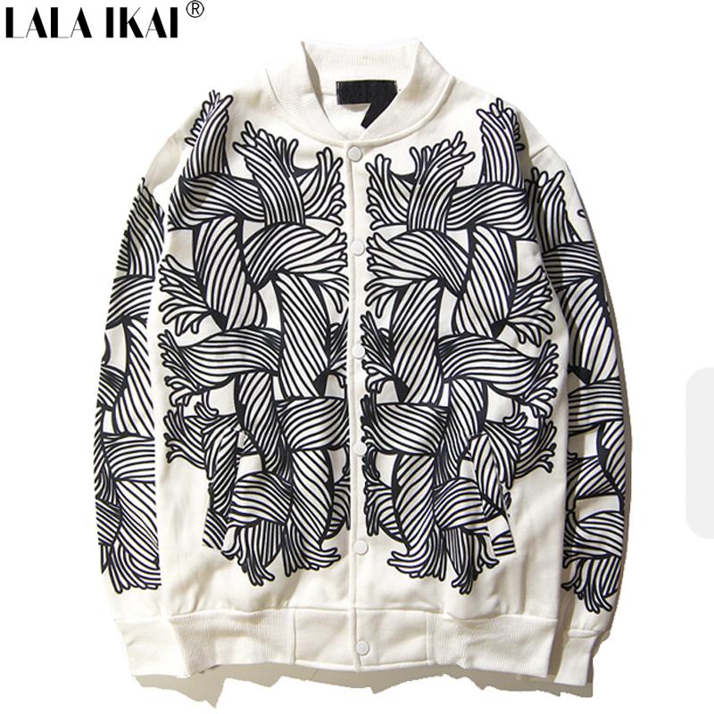 Print Mens Jacet White And Black Male Hip Hop Jacket Coat European And American Street Mens Jacket SMC0365-4(China (Mainland))