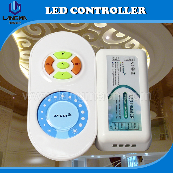 2.4G 5keys+Touch screen LED Brightness Dimmer led controller led strip controller / dimmer for single color dmx controller(China (Mainland))