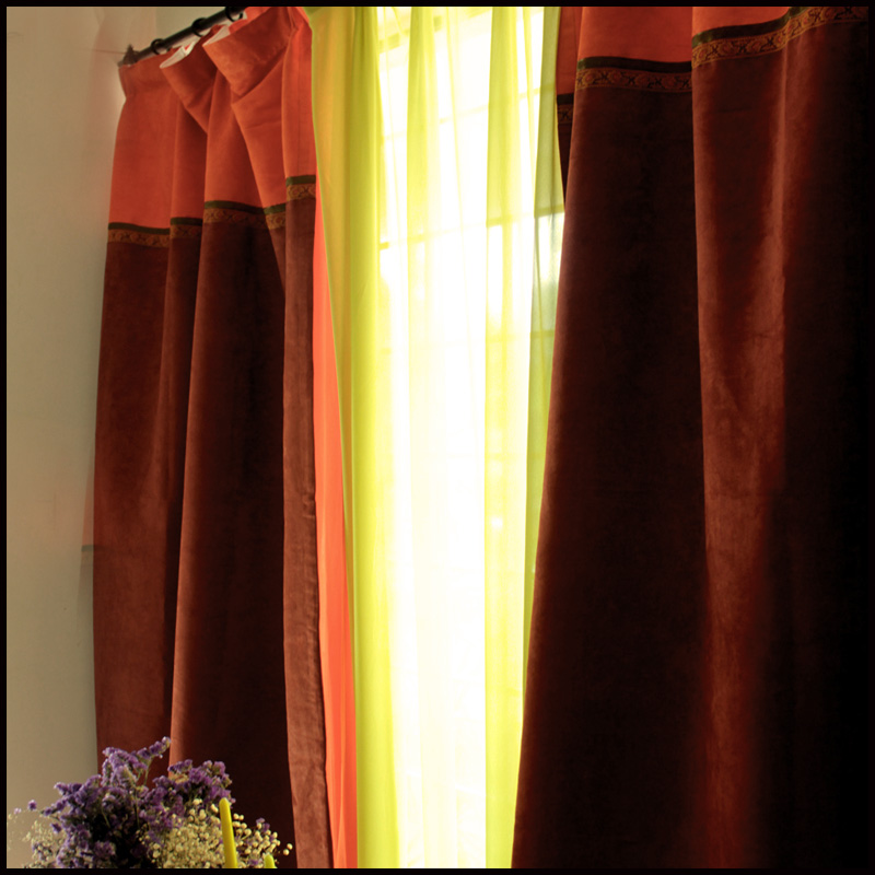 Masculine curtains