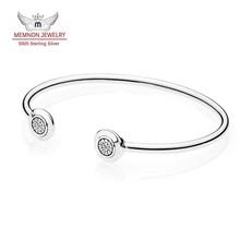 Autumn Collection P Signature Open Silver Bangle bracelets fit 925 sterling silver charms bracelet fine Memnon jewelry YSZ037(China (Mainland))