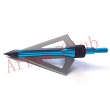 Hunting and archery 6pcs lot 100GR different colors three blades arrowheads and hunting bow arrow broadheads