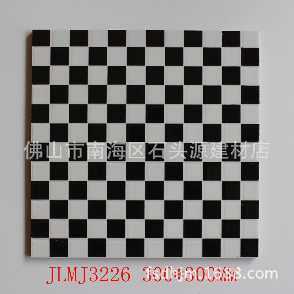 Direct 300 * 300 black and white with a small box of polished crystal tile floor tile anti-slip tiles polished crystal STY(China (Mainland))