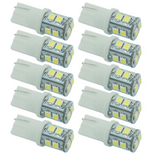 Buy 10pcs 12V 3528 10 SMD T10 W5W 501 LED Car Auto Sidelight Bulb White Parking License Plate Light for $2.86 in AliExpress store