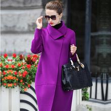 2015 new winter jacket women parka double slim long wool coat(China (Mainland))
