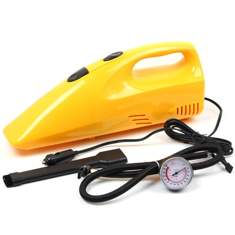 Aimee auto car inflatable pump car vacuum cleaner 3in1 belt tire gauge high quality for all car universal(China (Mainland))