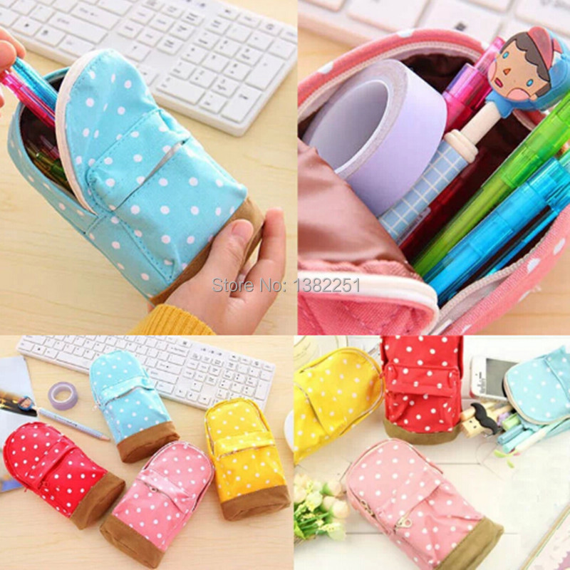 Korea Stationery Multifunctional Big Capacity Pencil Case Dot School Bag Cute Storage Bag FZ2746 81pv<br><br>Aliexpress