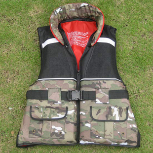 Manner adult life vest Camouflage professional snorkeling fishing services vest with pockets