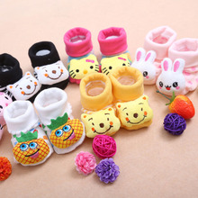 24 styles Lovely cute Baby product Baby socks animal cartoon doll socks modeling socks non-slip socks