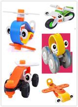 4 стили Творческий СДЕЛАЙ САМ Блок Кирпич Игрушки Для Детей Образовательные Пластически блок комплект бесплатная доставка