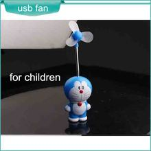 Children's toys cartoon USB fan safe with soft blade Doraemon touch blue fat guy robot funny cat hot sytle selling well