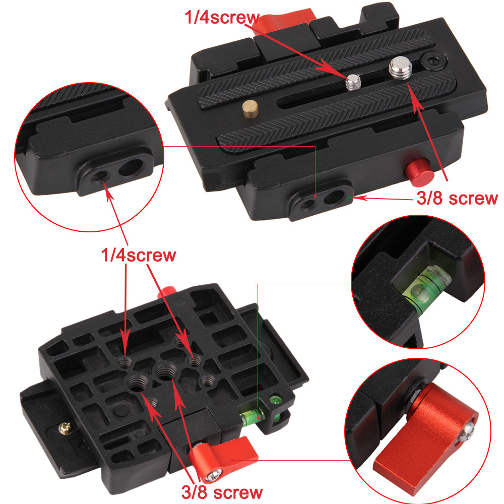 DSLR Camera Quick Release Adapter System With Slide Plate for Tripod Ball Head<br><br>Aliexpress