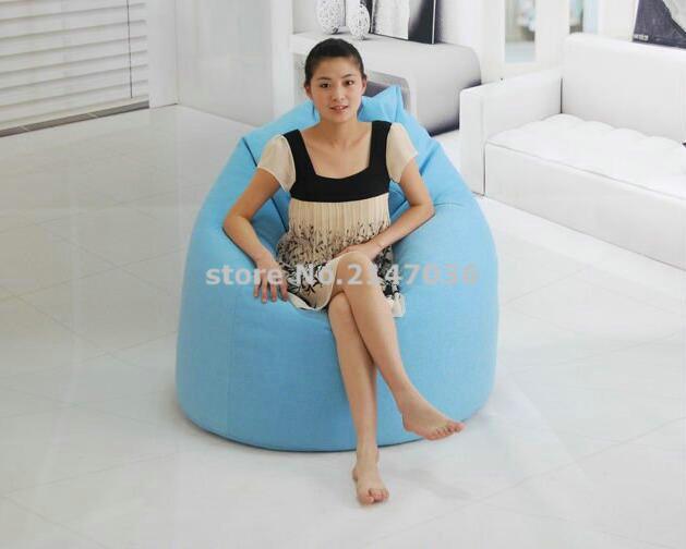 Blue Tear Drop design bean bag, living room beanbag chair, outdoor sofa seat cover(China (Mainland))
