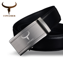 Buy COWATHER Fashion automatic buckle 100% cow genuine leather belts men high grade newest arrival male strap free for $11.87 in AliExpress store