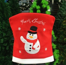 New 2015 Hot Red Santa Claus Pattern Novelty Seat Chair Covers Dinner Chair Cap for Christmas Decorations Xmas Gift(China (Mainland))