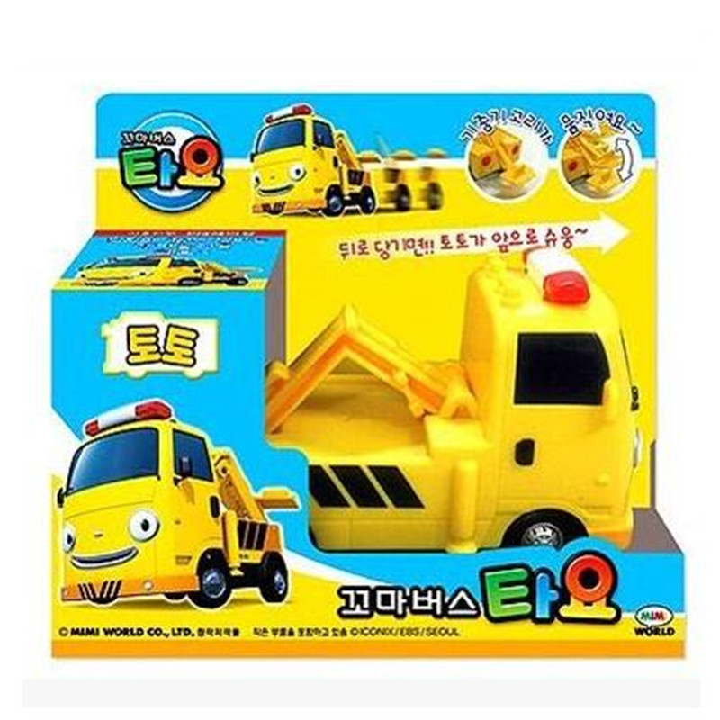 Tayo the little bus yellow tractor TOTO engineering truck kids toys model car tayo bus juguetes para ninos Construction vehicles(China (Mainland))