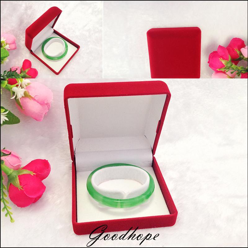Superior 6pcs red velvet bracelet box gift jewelry for Red velvet jewelry gift boxes