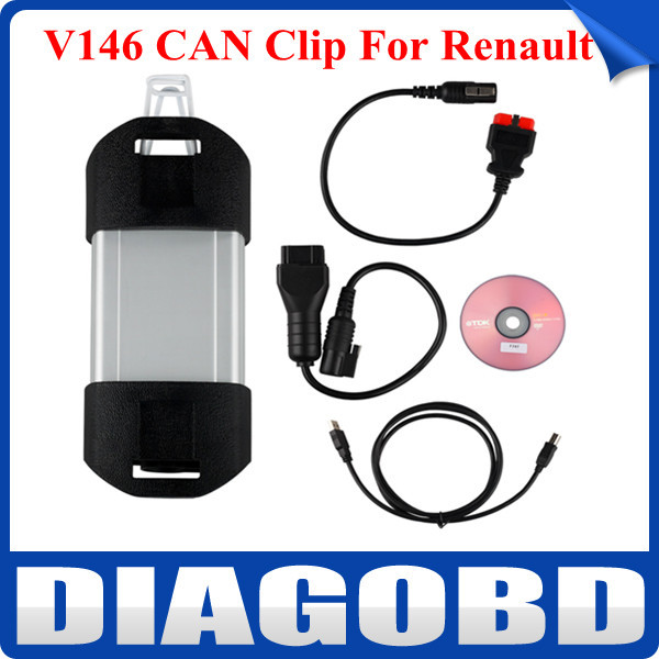 2015 Newest Version Professional for Renault CAN Clip V146 Latest CAN Clip for Renault Diagnostic Tool with Free Shipping