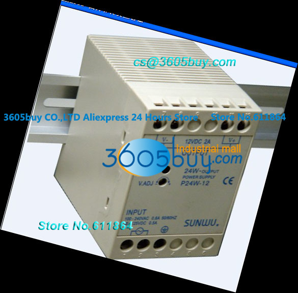 Aluminum rail power source P40WF-24<br><br>Aliexpress