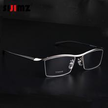 2016 Fashion Titanium rimless eyeglasses frame Brand designer Men Glasses suit reading glasses optical prescpriton lenses(China (Mainland))