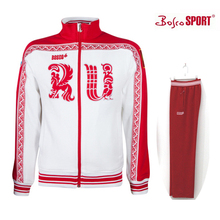 Free shipping L,XL,2XL,3XL bosco sports jacket men white red blue Winter Olympic spring MEN RU on the front Man jackets