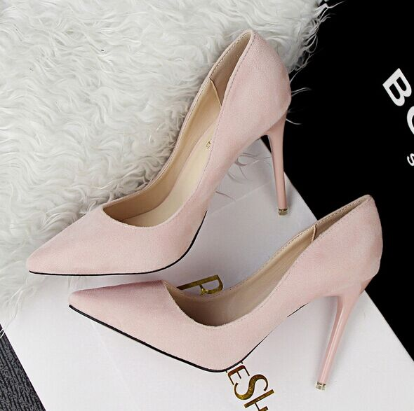 Free shipping 2016 spring new fashion red bottom high heels shoes women pumps women sapatos de salto alto 6 colors size 34-39<br><br>Aliexpress