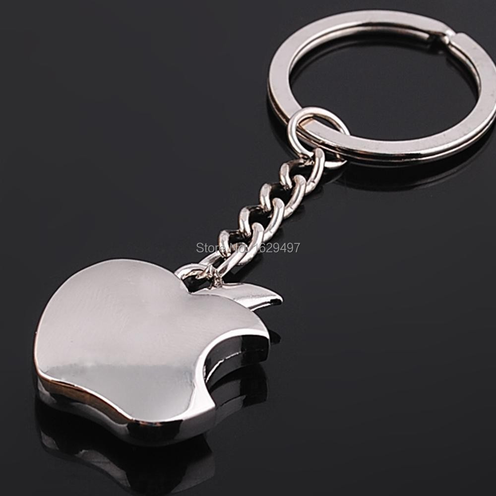 New arrival Novelty Souvenir Metal Apple Key Chain Creative Gifts Apple Keychain Key Ring Trinket Free shipping(China (Mainland))