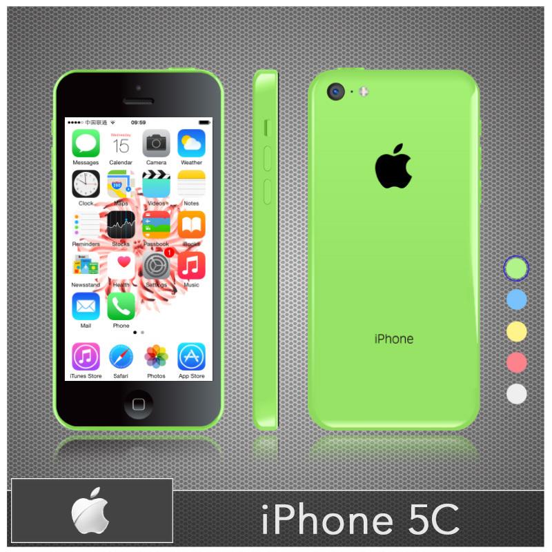 "Original Unlocked Apple iPhone 5C 16GB 32GB Mobile Phone Dual Core IOS 8 ROM 4.0"" IPS 8MP USED Smartphone(China (Mainland))"