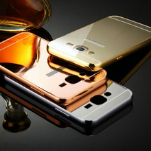 ,New Fashion Mirror Aluminum Metal Case Samsung Galaxy J1 J2 J3 J5 J7 Frame Ultra Slim Acrylic Back Cover - PINGPING INT'L BUSINESS (HK store CO LTD)