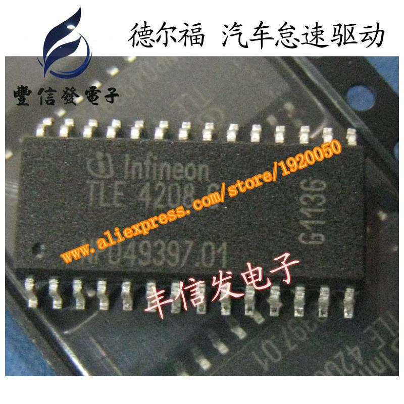 Free shipping.TLE4208G Delphi Automotive engine computer board new idling control driver module(China (Mainland))