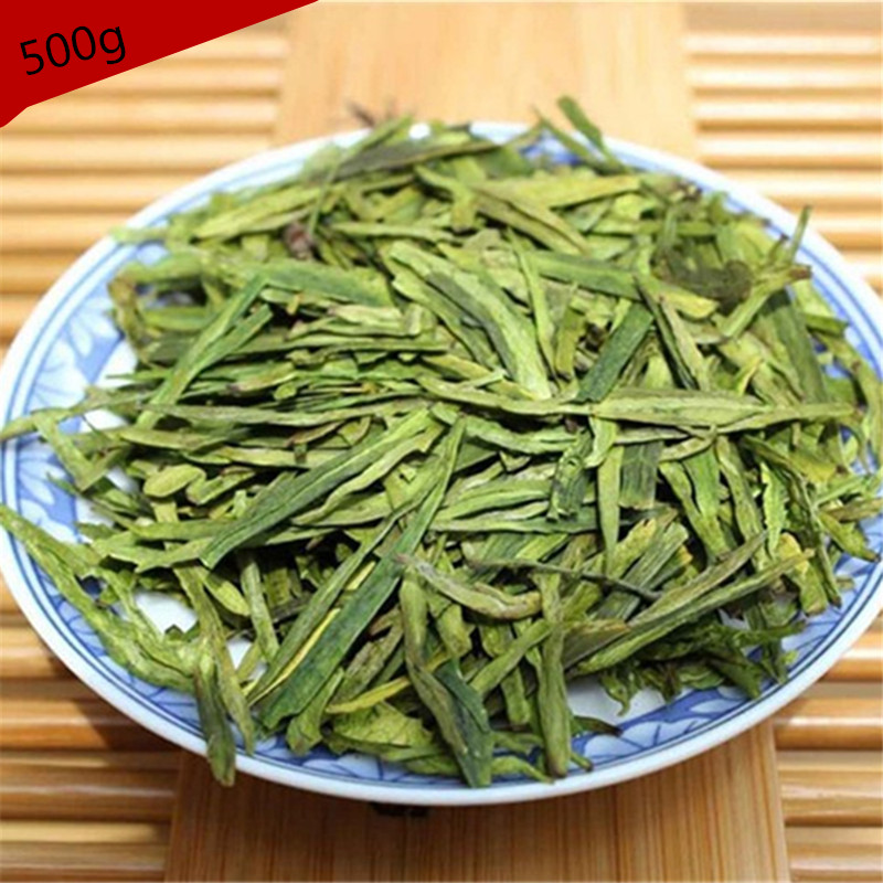 500g Chinese Longjing Green Tea Long Jing 2017 Spring Famous Good quality Dragon Well Hot Sale The for Man And Women Health Tea(China (Mainland))