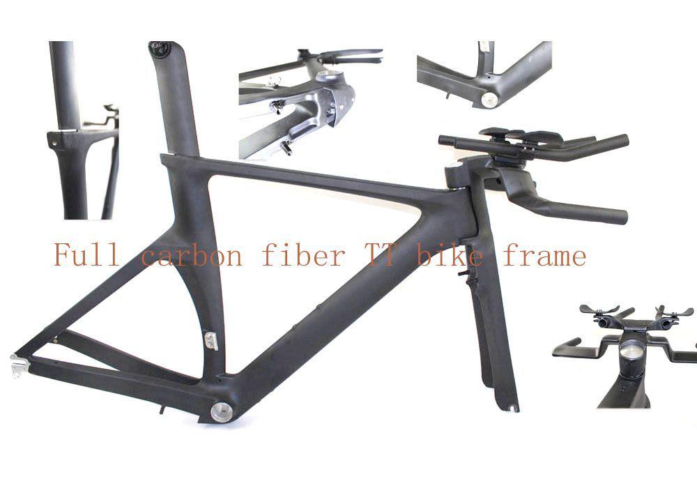 Hot sale TT frame , Carbon Triathlon frames , TT Bike frame DI2 Internal cable system frame(China (Mainland))