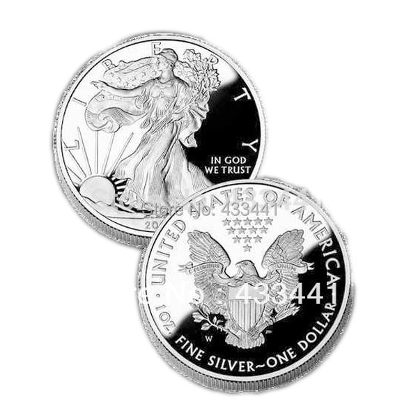 [polishing]sample order wholesale 5 pcs/lot American eagle silver dollar , date 2010 1oz silver coin(China (Mainland))