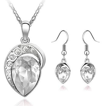 White Gold Filled Rhinestone Fine Jewelry Set