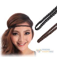 Belly Dance Hair Band Fashion Braid Headband Faux Hair Piece Elastic Hot SGG#(China (Mainland))