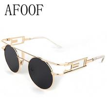 [ AFOOF ] Fashion Metal Frame Steampunk Sunglasses Brand Designer Women Unique Round Sun glasses Men Gothic Eyewear Oculos