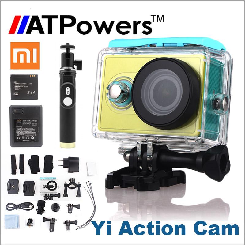 Xiaomi Yi Action Camera optional connector set XiaoYi waterproof Camera 1080P 60fps 16MP wifi Xiaomi Sports Cam Yi Action Camera(China (Mainland))