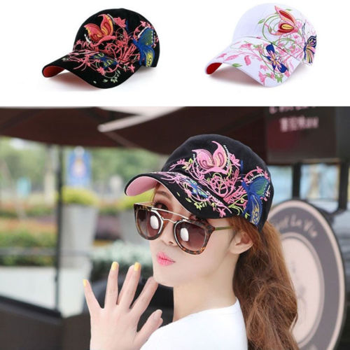 1PC New Lady Casual Hat Baseball Cap Women Ball Caps Adjustable Butterfly Hats Gift(China (Mainland))