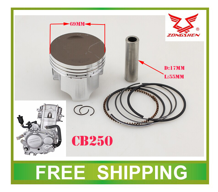 69mm zongshen CB250 zs169fmm water cooled engine piston ring set xmotos apollo 250cc atv quad dirt pit bike parts free shipping(China (Mainland))