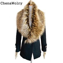 Casual Luxury Women's Fashion Faux Fur Collar Scarf Shawl Collar Wrap Stole Scarves New Fashion Design Free Shipping Nov 15(China (Mainland))