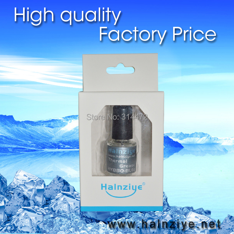 CPU&GPU nano silicone Grease/compound/paste thermal HY880 bottle 6g with a paper box(China (Mainland))