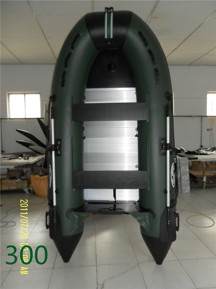A large number of wholesale Pvc inflatables fishing boat assault boats 3.3 meters aluminum alloy 4 inflatable boat