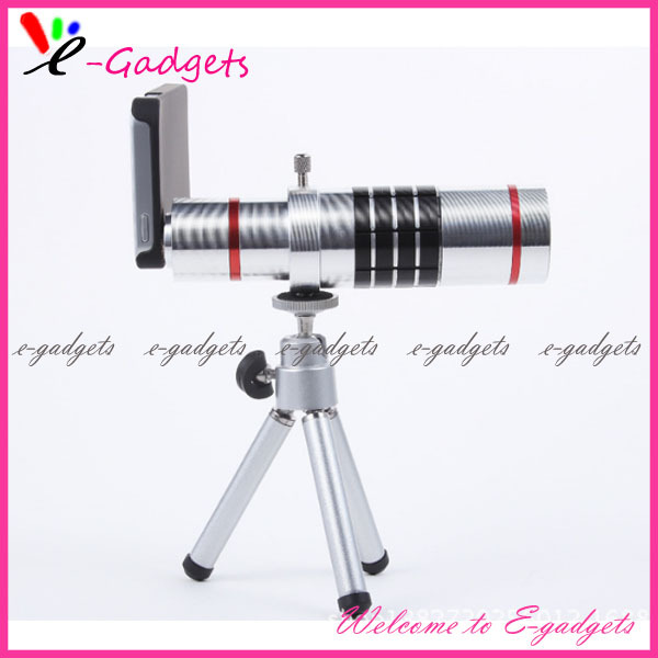 E-Gadgets New external mobile phone camera telescope with tripod 18x zoom mobile phone telephoto lens for Iphone 6 Free Shipping(China (Mainland))