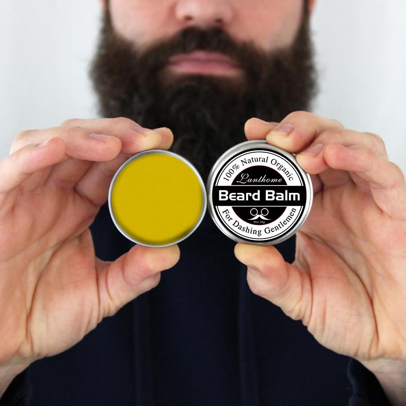 5 pcs Lanthome Natural Beard Oil plus beard Wax balm Organic Beard Conditioner Leave in Styling(China (Mainland))