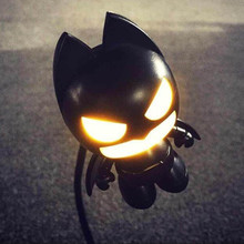 2015 New Design Portable Batman USB Night Light Beside Table PC LED Lamp LED Night Light Emergency Lights WJD15075(China (Mainland))