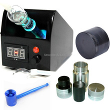 vaporizer package Easy Vape v290  Digital Herb Vaporizer  + 38mm grinder+pollen press+ metal smoking pipe