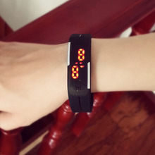2015 hot design LED watch women fashion sports watches silicone candy multicolor touch screen digital man Wristwatch bracelet