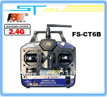 Flysky FS 2.4G 6ch Radio control Transmitter & Receiver CT6B for 3D RC helicopter airplane with tracking number free shipping