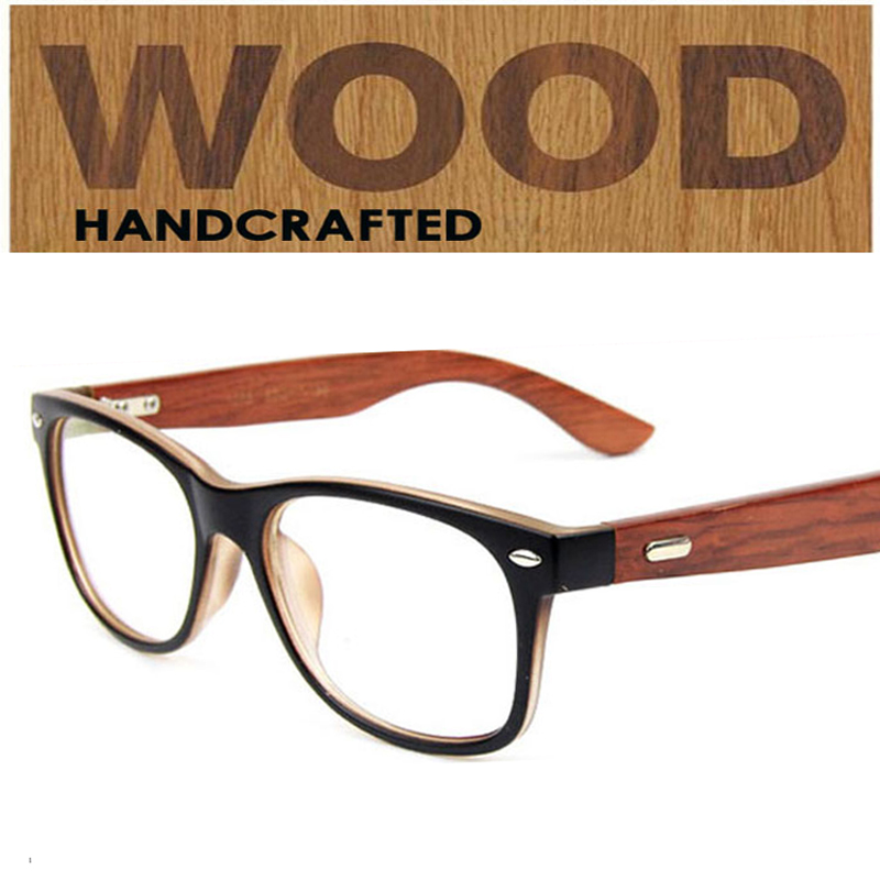 Aliexpress.com : Buy fashion wooden temples optical frames ...